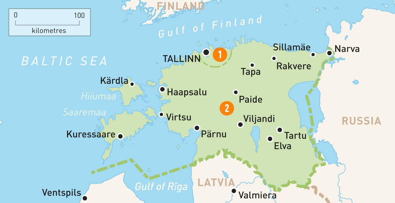 Mapa Estonska Mapa Estonska Severni Evropa Evropa