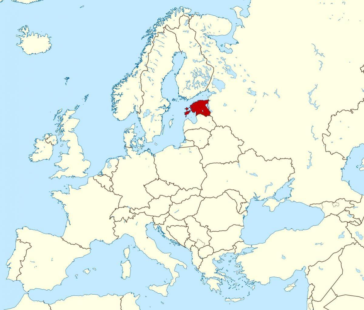 Estonsko V Mape Sveta Estonska Umisteni Na Mape Sveta Severni